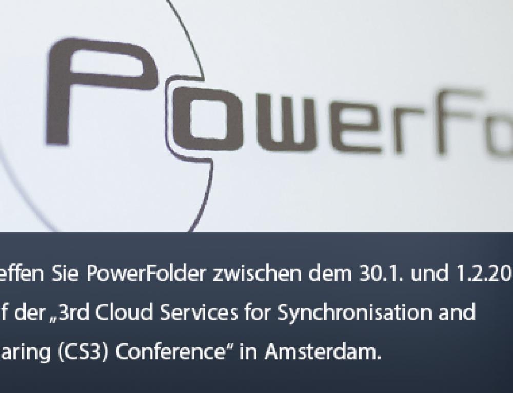 Treffen Sie PowerFolder auf der 3. Cloud Dienste Konferenz für Synchronisation und Sharing (CS3) in Amsterdam